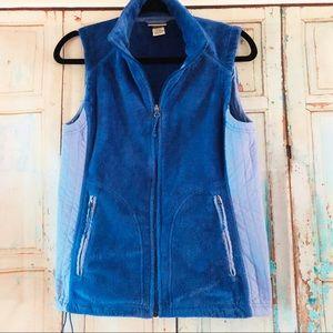 L.L. Bean fleece vest in periwinkle blue x-small